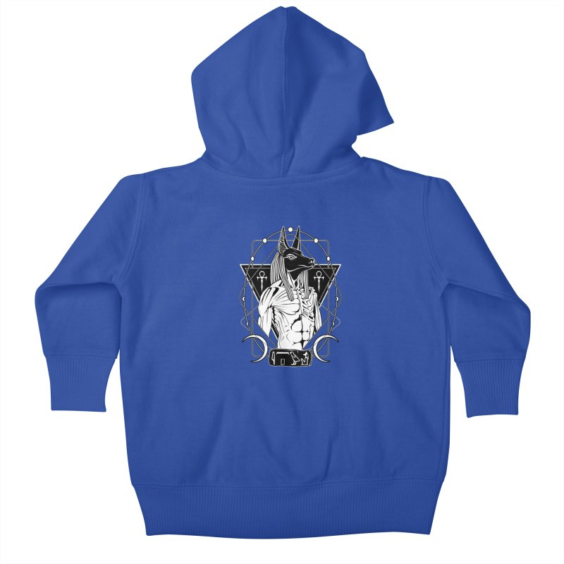 ANUBIS - God of afterlife and mummification Kids Baby Zip-Up Hoody by von Kowen's Shop