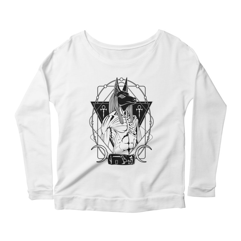 ANUBIS - God of afterlife and mummification Women's Scoop Neck Longsleeve T-Shirt by von Kowen's Shop