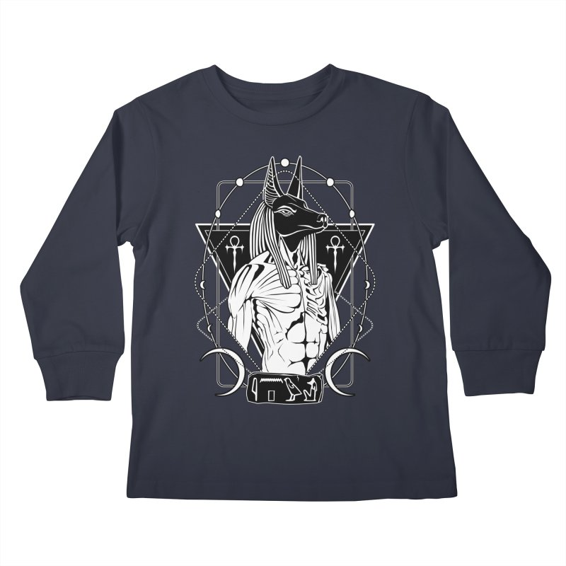 ANUBIS - God of afterlife and mummification Kids Longsleeve T-Shirt by von Kowen's Shop