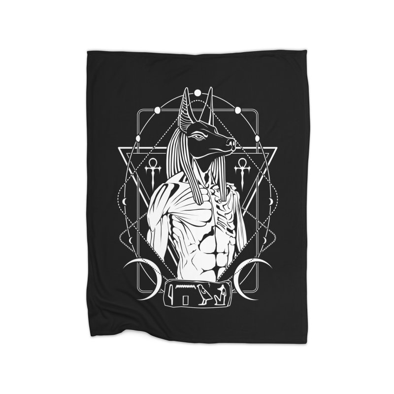 ANUBIS - God of afterlife and mummification Home Fleece Blanket Blanket by von Kowen's Shop
