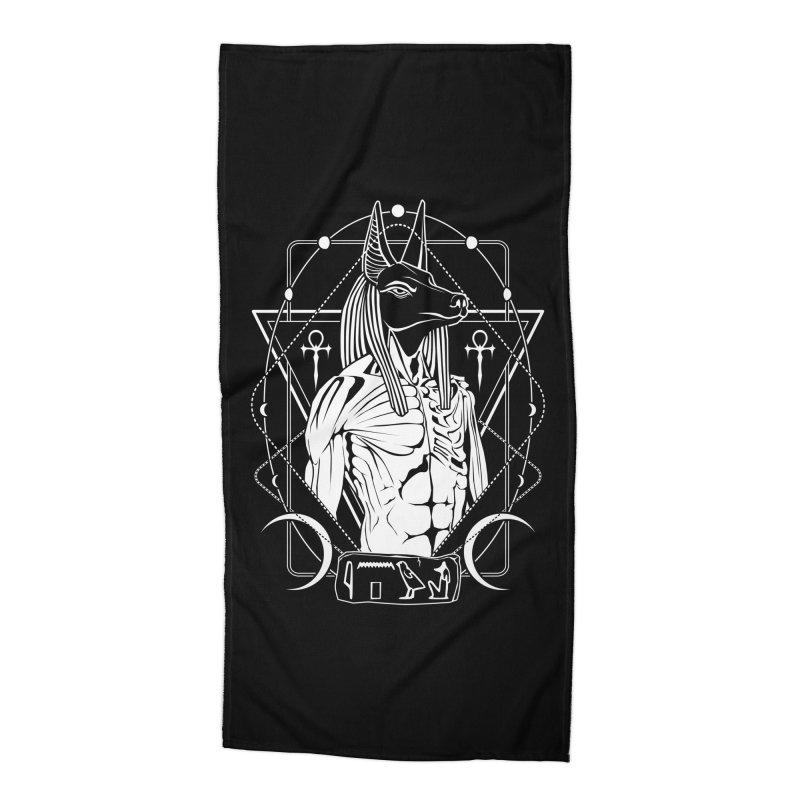 ANUBIS - God of afterlife and mummification Accessories Beach Towel by von Kowen's Shop