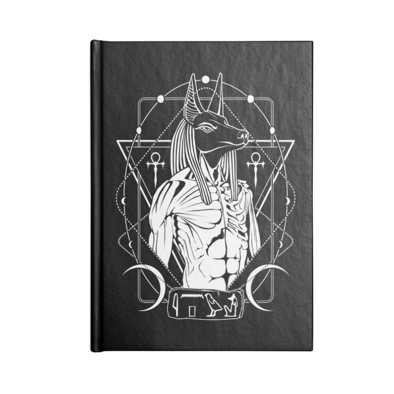 ANUBIS - God of afterlife and mummification Accessories Blank Journal Notebook by von Kowen's Shop