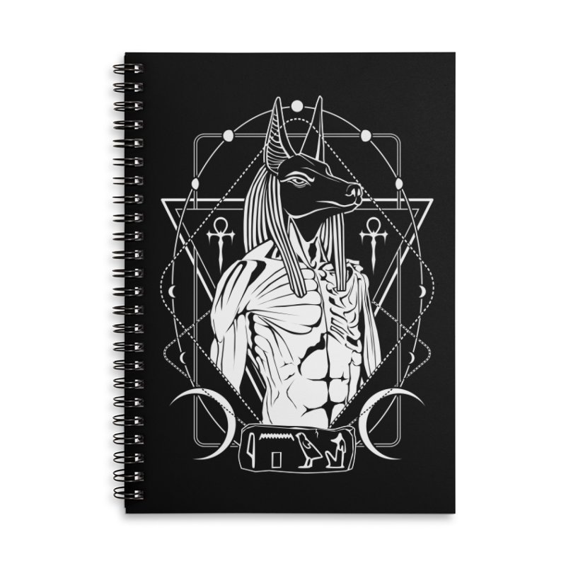 ANUBIS - God of afterlife and mummification Accessories Lined Spiral Notebook by von Kowen's Shop
