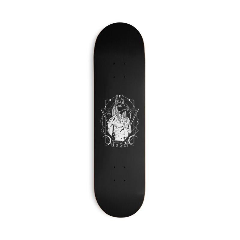 ANUBIS - God of afterlife and mummification Accessories Deck Only Skateboard by von Kowen's Shop