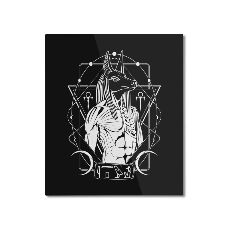 ANUBIS - God of afterlife and mummification Home Mounted Aluminum Print by von Kowen's Shop