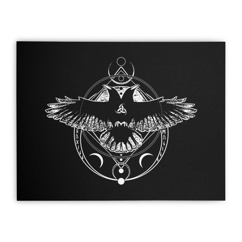 Huginn and Muninn / Hail Odin! Home Stretched Canvas by von Kowen's Shop