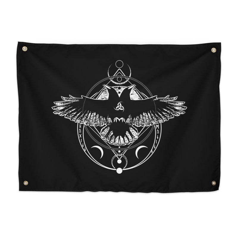Huginn and Muninn / Hail Odin! Home Tapestry by von Kowen's Shop