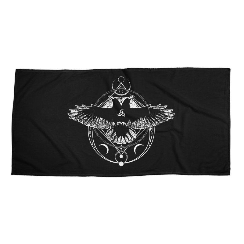 Huginn and Muninn / Hail Odin! Accessories Beach Towel by von Kowen's Shop