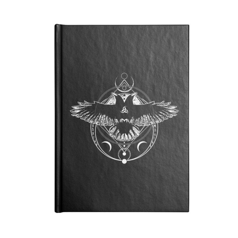 Huginn and Muninn / Hail Odin! Accessories Blank Journal Notebook by von Kowen's Shop