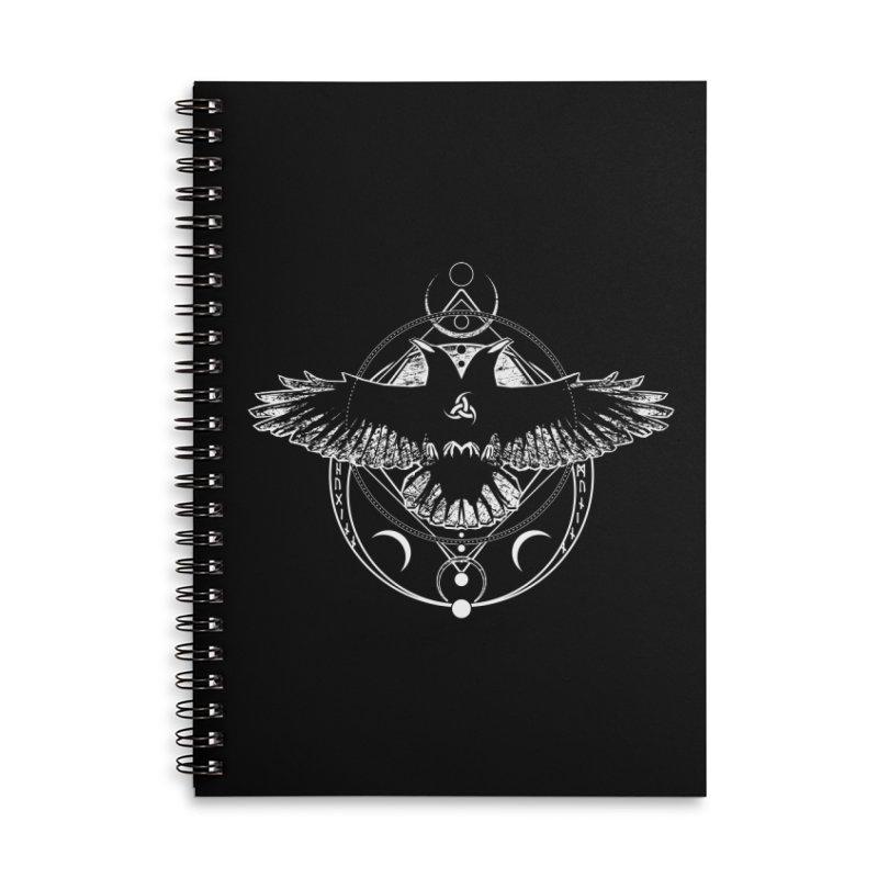 Huginn and Muninn / Hail Odin! Accessories Lined Spiral Notebook by von Kowen's Shop