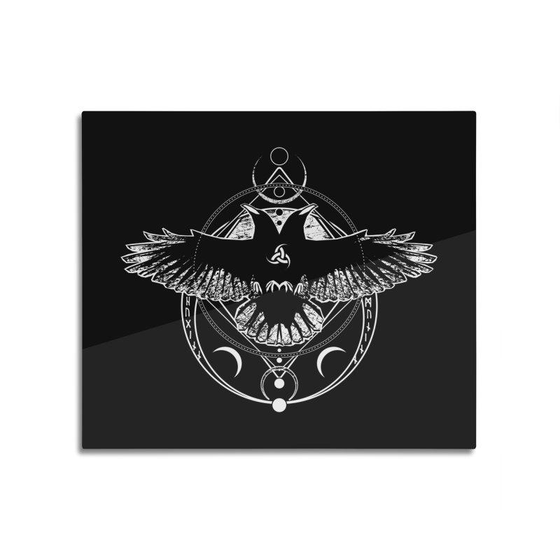 Huginn and Muninn / Hail Odin! Home Mounted Aluminum Print by von Kowen's Shop