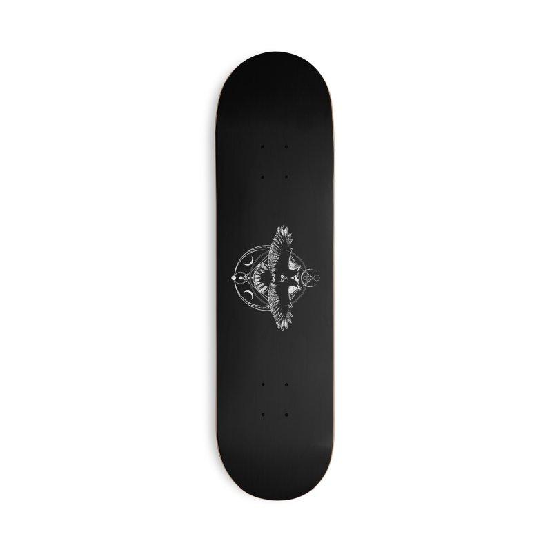Huginn and Muninn / Hail Odin! Accessories Deck Only Skateboard by von Kowen's Shop