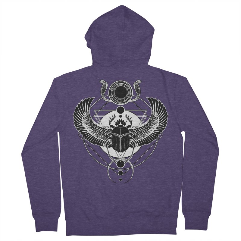 Winged scarab and the Sun disc Men's French Terry Zip-Up Hoody by von Kowen's Shop