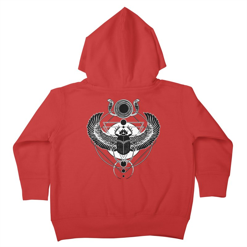 Winged scarab and the Sun disc Kids Toddler Zip-Up Hoody by von Kowen's Shop