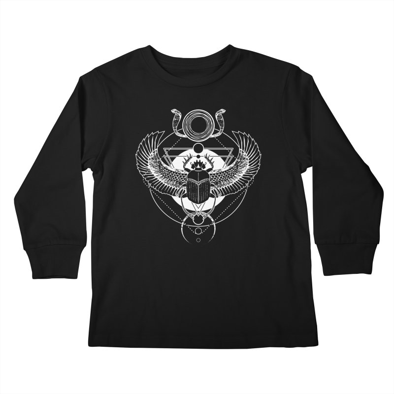 Winged scarab and the Sun disc Kids Longsleeve T-Shirt by von Kowen's Shop