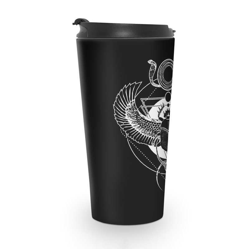 Winged scarab and the Sun disc Accessories Travel Mug by von Kowen's Shop