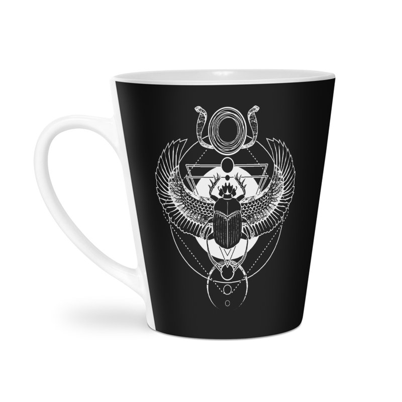 Winged scarab and the Sun disc Accessories Latte Mug by von Kowen's Shop