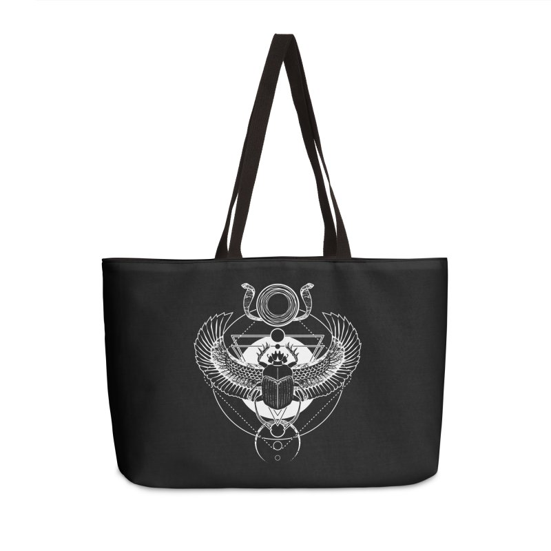 Winged scarab and the Sun disc Accessories Weekender Bag Bag by von Kowen's Shop