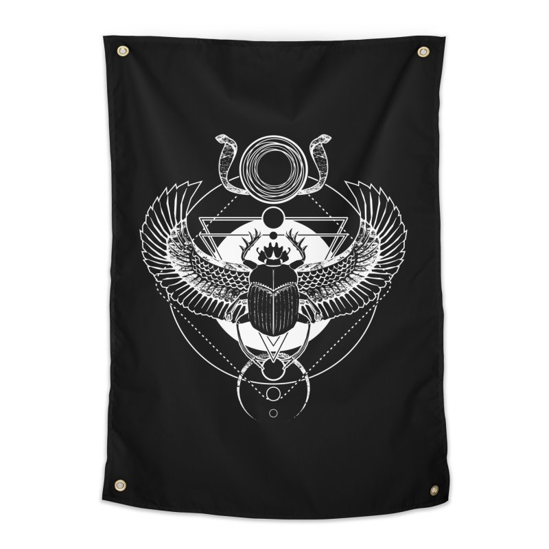 Winged scarab and the Sun disc Home Tapestry by von Kowen's Shop