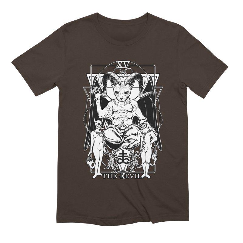 The Devil Tarot Card Men's Extra Soft T-Shirt by von Kowen's Shop