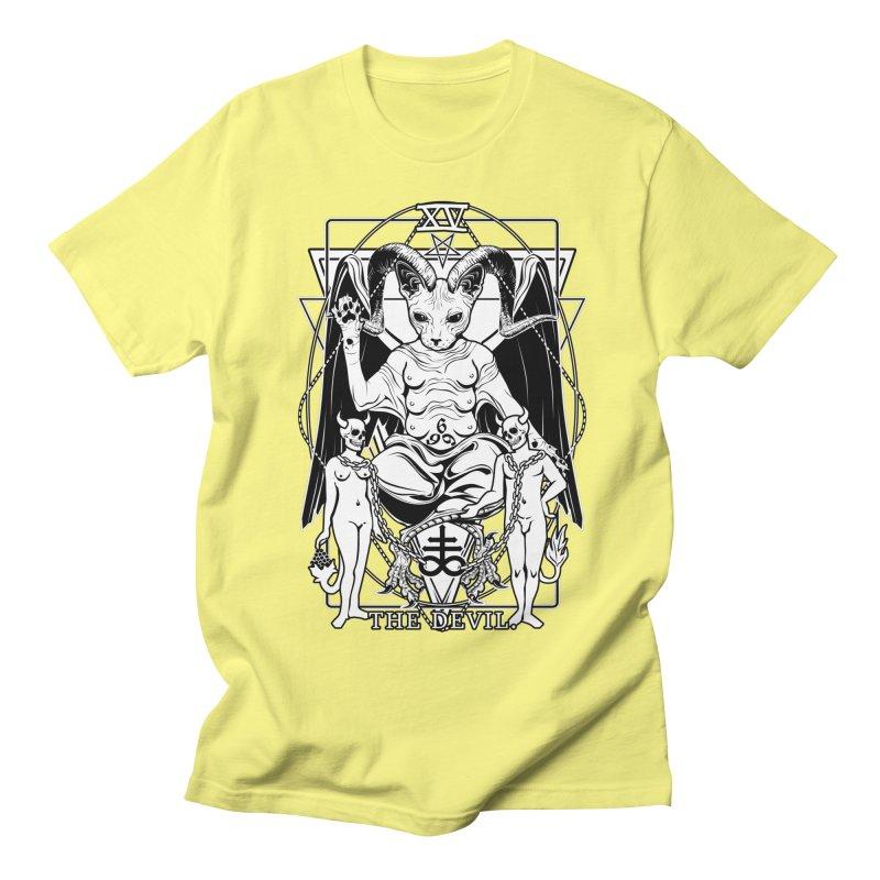 The Devil Tarot Card Men's Regular T-Shirt by von Kowen's Shop