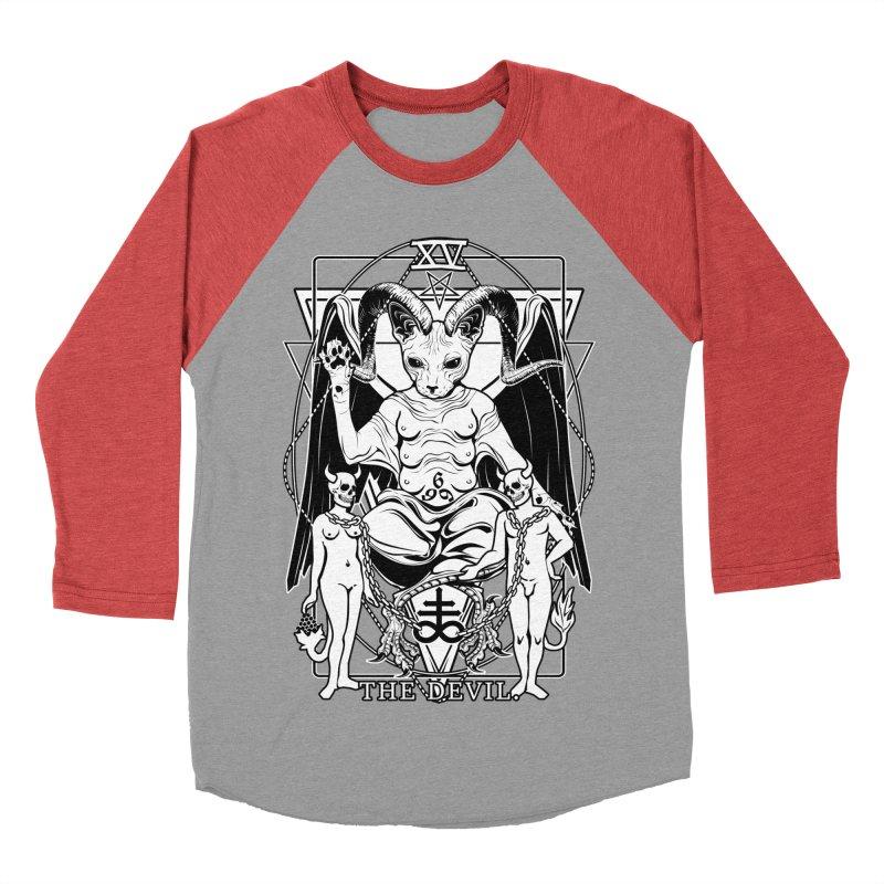 The Devil Tarot Card Women's Baseball Triblend Longsleeve T-Shirt by von Kowen's Shop