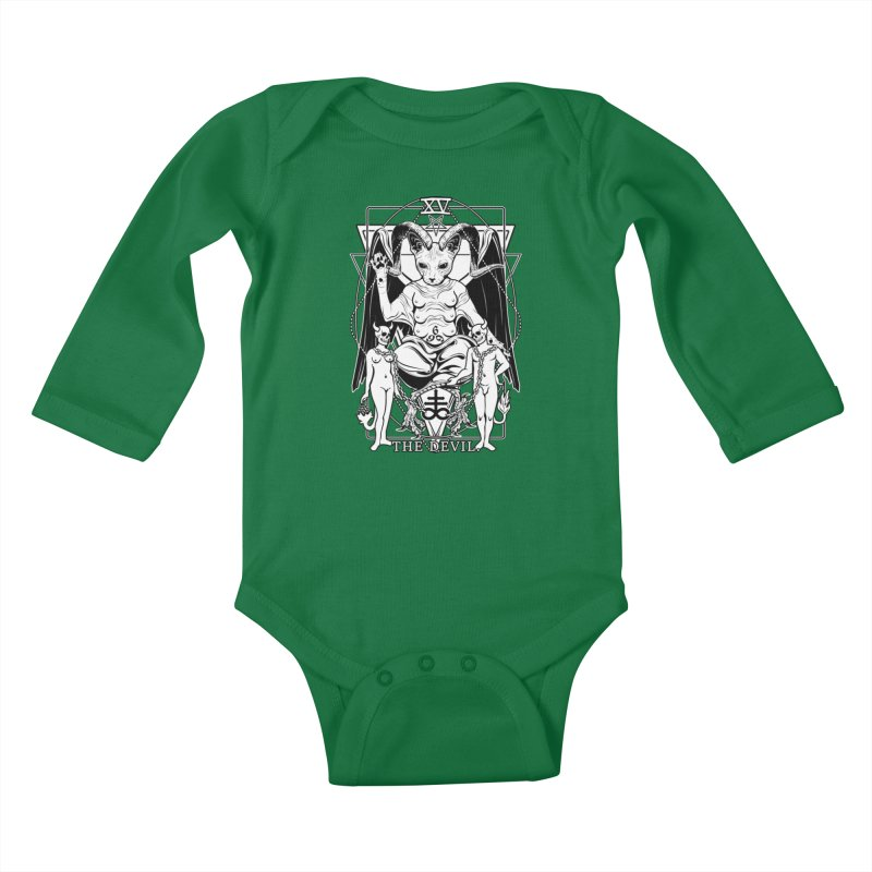 The Devil Tarot Card Kids Baby Longsleeve Bodysuit by von Kowen's Shop
