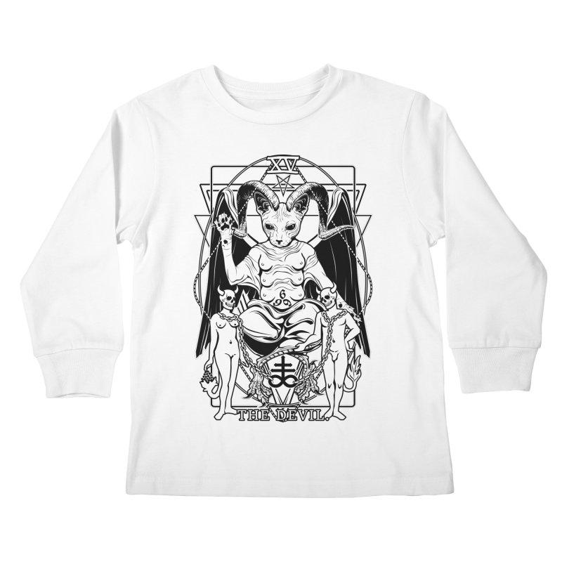 The Devil Tarot Card Kids Longsleeve T-Shirt by von Kowen's Shop