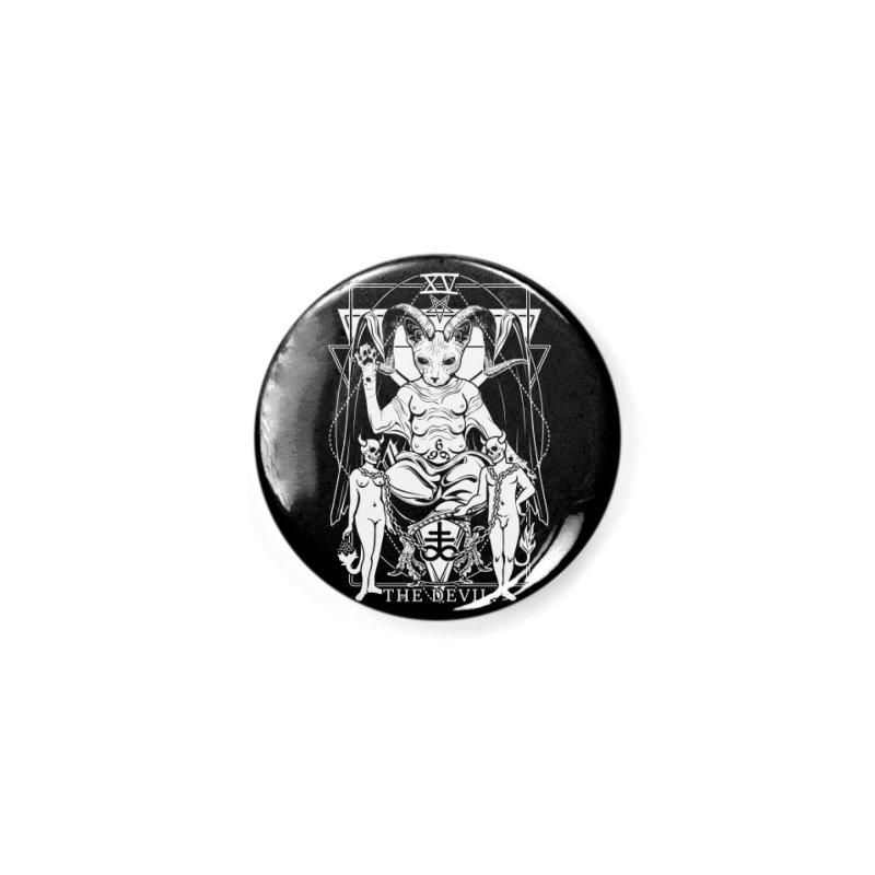 The Devil Tarot Card Accessories Button by von Kowen's Shop