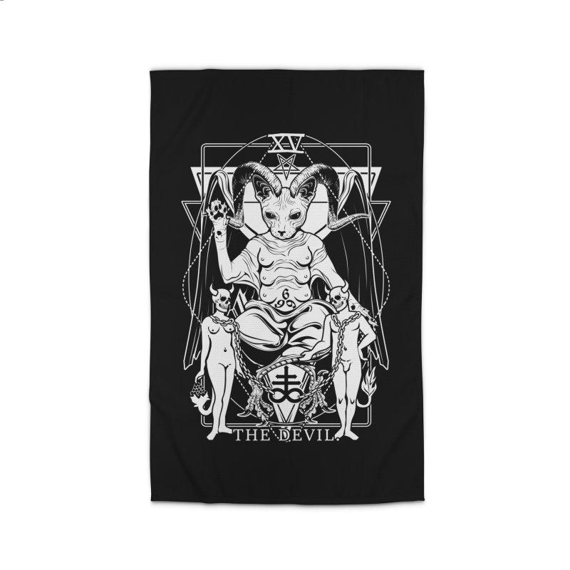 The Devil Tarot Card Home Rug by von Kowen's Shop