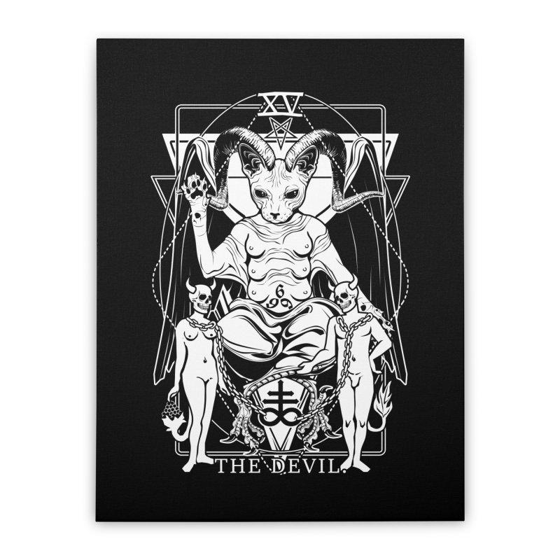 The Devil Tarot Card Home Stretched Canvas by von Kowen's Shop