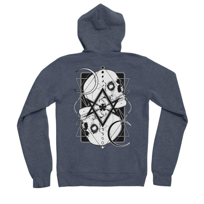 THELEMA: Do what thou wilt / Crowley's unicursal hexagram Men's Sponge Fleece Zip-Up Hoody by von Kowen's Shop