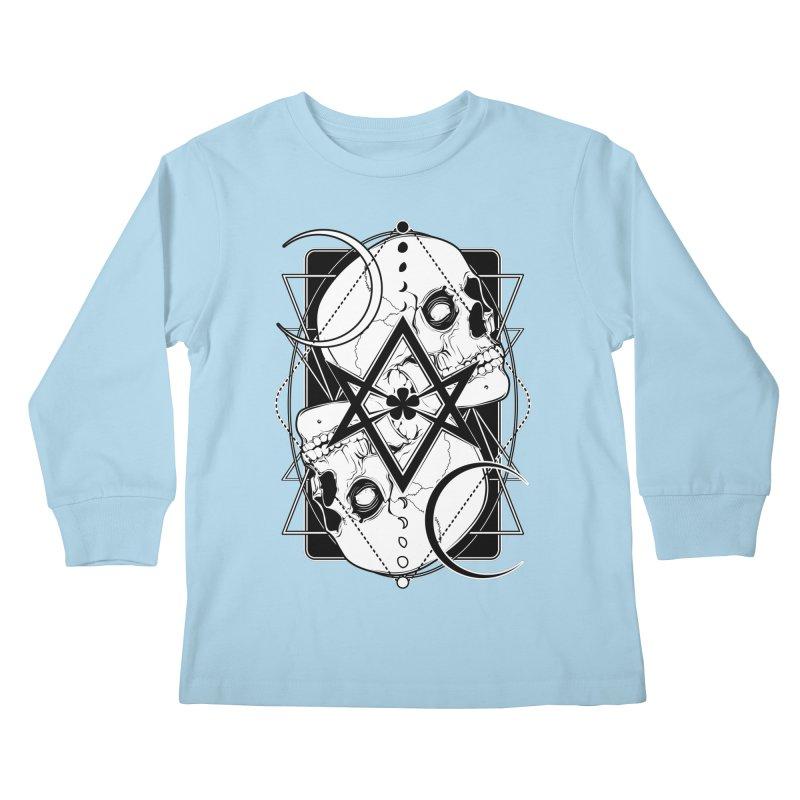 THELEMA: Do what thou wilt / Crowley's unicursal hexagram Kids Longsleeve T-Shirt by von Kowen's Shop