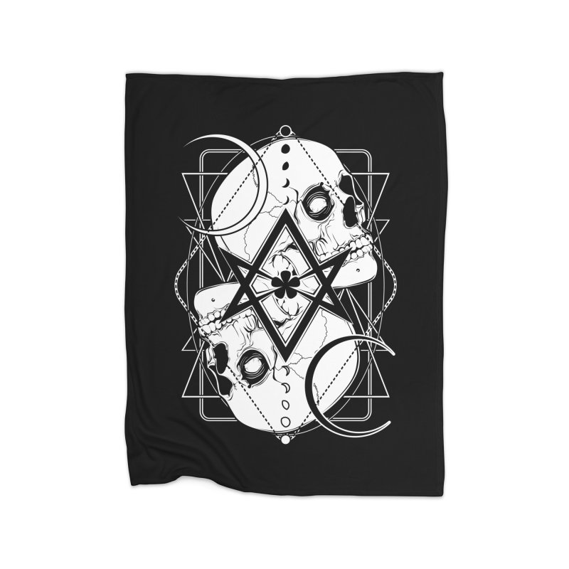 THELEMA: Do what thou wilt / Crowley's unicursal hexagram Home Fleece Blanket Blanket by von Kowen's Shop