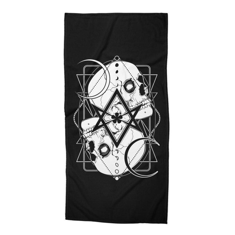 THELEMA: Do what thou wilt / Crowley's unicursal hexagram Accessories Beach Towel by von Kowen's Shop