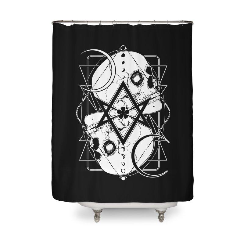 THELEMA: Do what thou wilt / Crowley's unicursal hexagram Home Shower Curtain by von Kowen's Shop