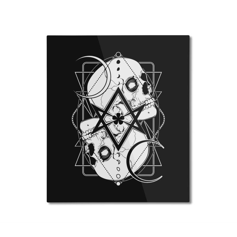 THELEMA: Do what thou wilt / Crowley's unicursal hexagram Home Mounted Aluminum Print by von Kowen's Shop