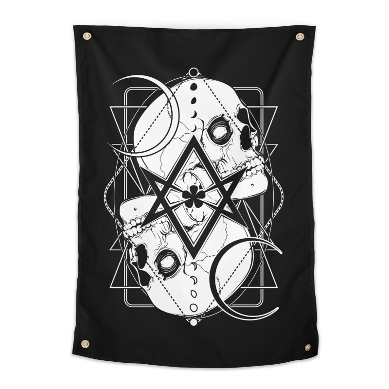 THELEMA: Do what thou wilt / Crowley's unicursal hexagram Home Tapestry by von Kowen's Shop