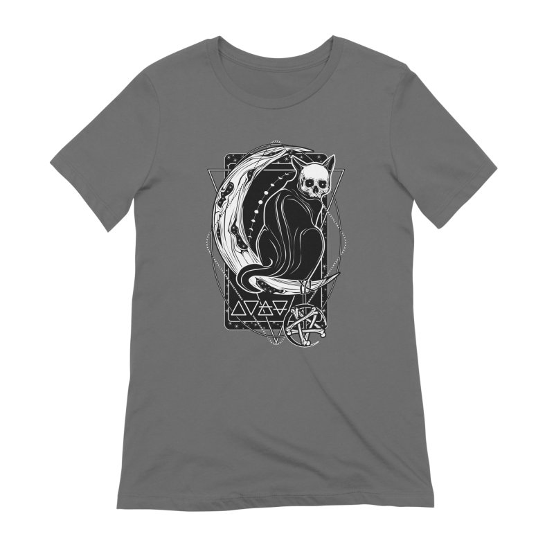 Cat Daemon sitting on the Moon Women's Extra Soft T-Shirt by von Kowen's Shop