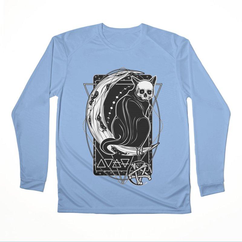 Cat Daemon sitting on the Moon Men's Performance Longsleeve T-Shirt by von Kowen's Shop