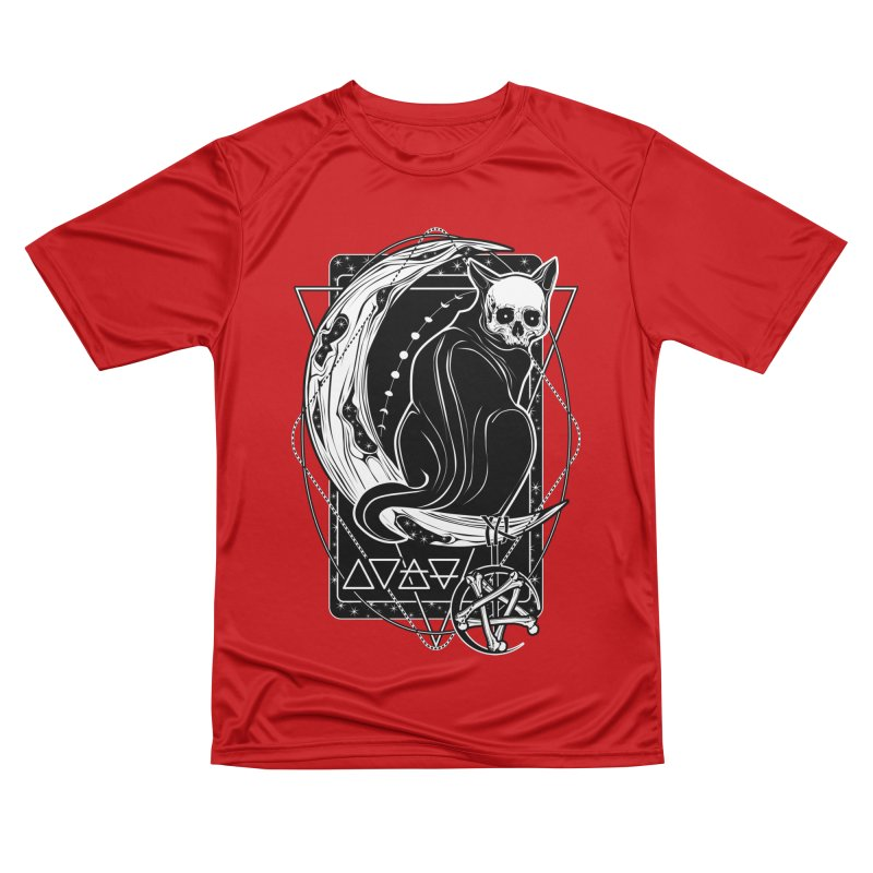 Cat Daemon sitting on the Moon Men's Performance T-Shirt by von Kowen's Shop
