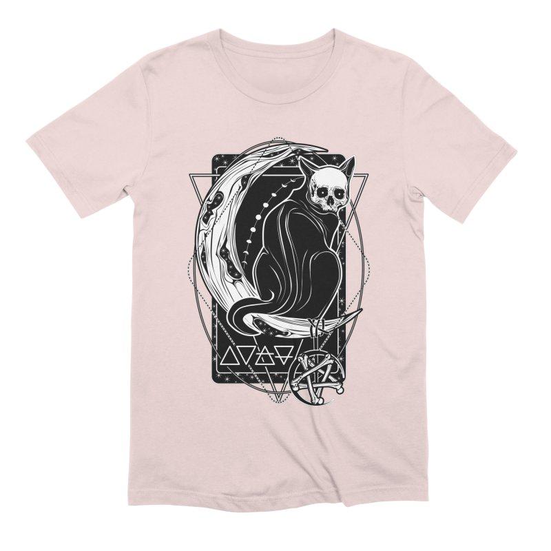 Cat Daemon sitting on the Moon Men's Extra Soft T-Shirt by von Kowen's Shop