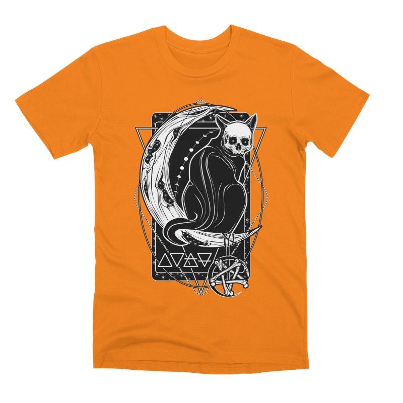 Cat Daemon sitting on the Moon Men's Premium T-Shirt by von Kowen's Shop
