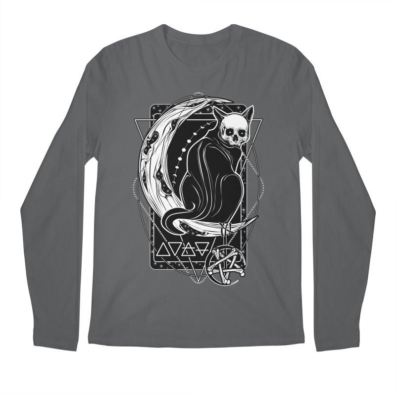 Cat Daemon sitting on the Moon Men's Longsleeve T-Shirt by von Kowen's Shop