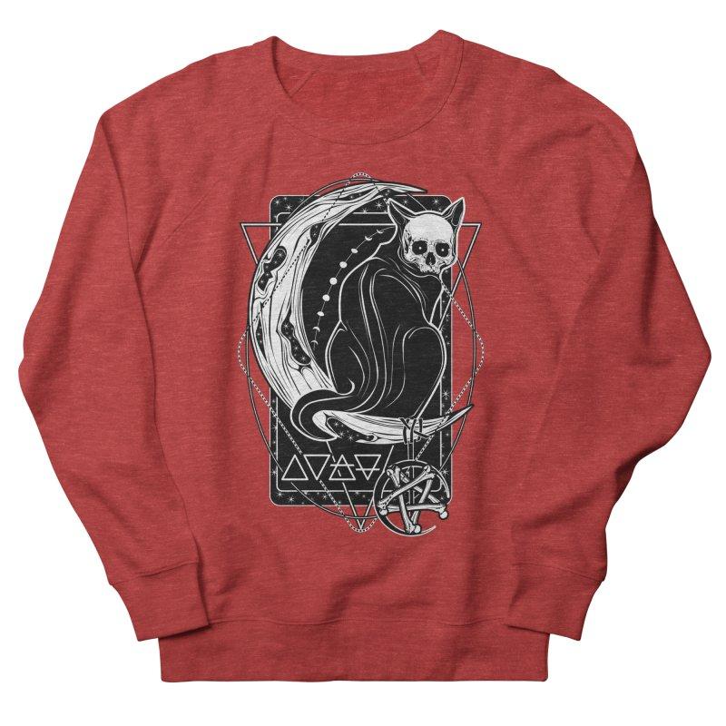 Cat Daemon sitting on the Moon Women's French Terry Sweatshirt by von Kowen's Shop