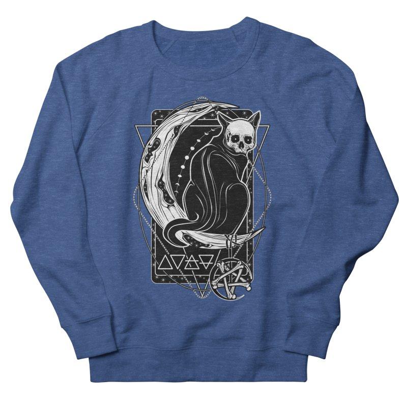 Cat Daemon sitting on the Moon Men's French Terry Sweatshirt by von Kowen's Shop