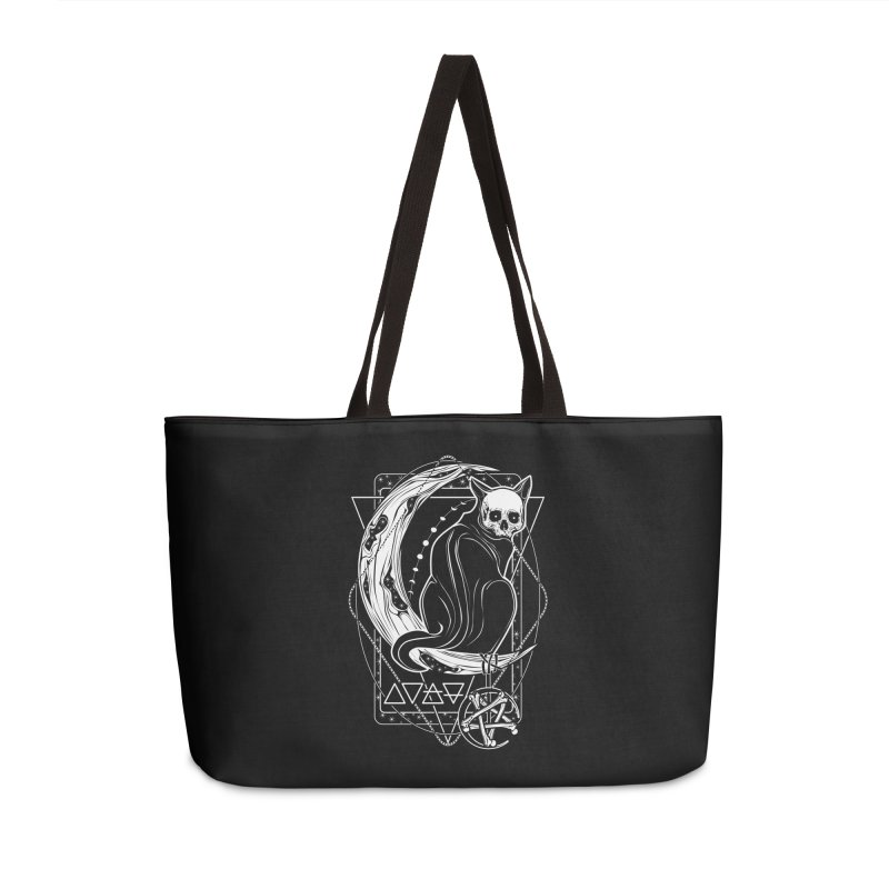 Cat Daemon sitting on the Moon Accessories Weekender Bag Bag by von Kowen's Shop