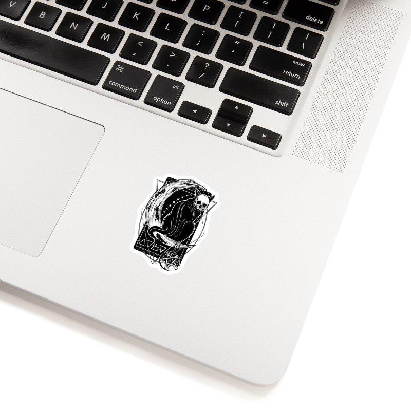Cat Daemon sitting on the Moon Accessories Sticker by von Kowen's Shop