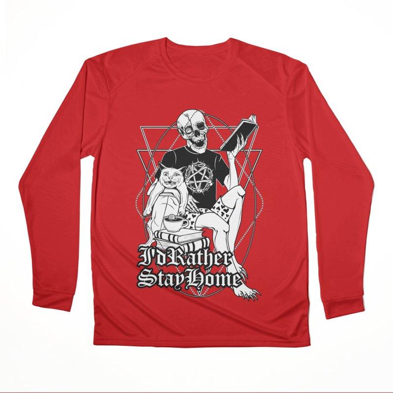I'd rather stay home Men's Performance Longsleeve T-Shirt by von Kowen's Shop