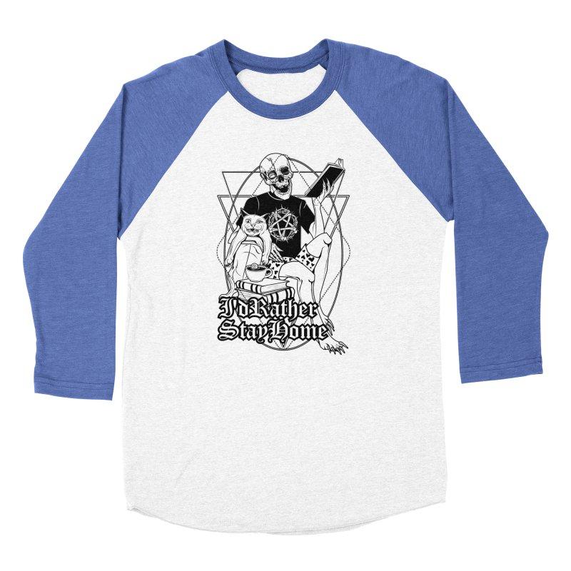I'd rather stay home Men's Baseball Triblend Longsleeve T-Shirt by von Kowen's Shop